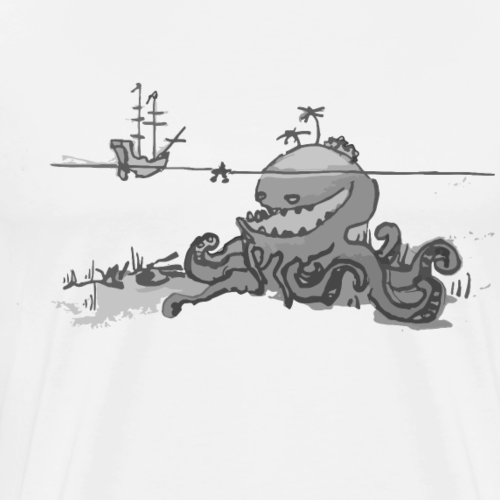 Le Kraken Kta Cartes Hunt - T-shirt Premium Homme