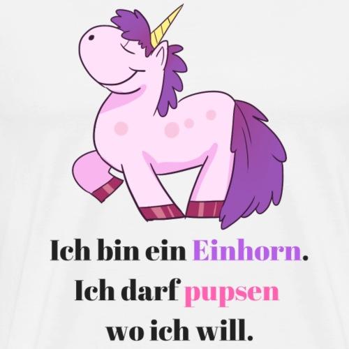 Einhorn Sprüche Comic Design - Männer Premium T-Shirt