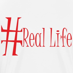 #Real_Life - Premium T-skjorte for menn