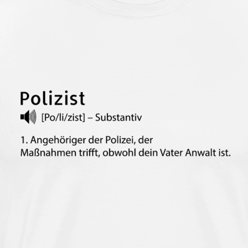 Definition Polizist - Männer Premium T-Shirt
