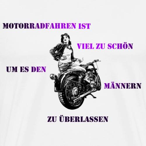 Motarrad Fahrerin - Männer Premium T-Shirt