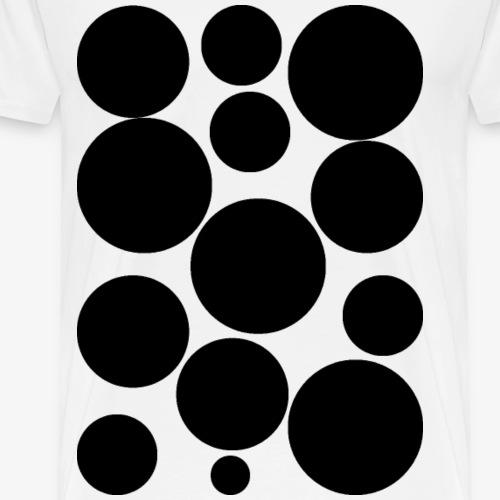 schwarze Kreise - Männer Premium T-Shirt