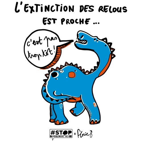 L'extinction des relous - Dino bleu - T-shirt Premium Homme