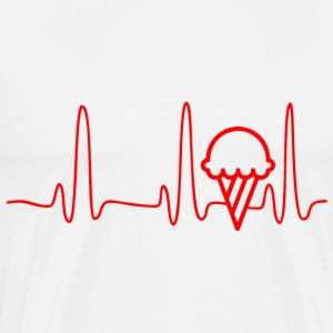 ECG HEART LINE ICE CREAM red - Men's Premium T-Shirt
