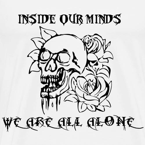 All alone - Miesten premium t-paita