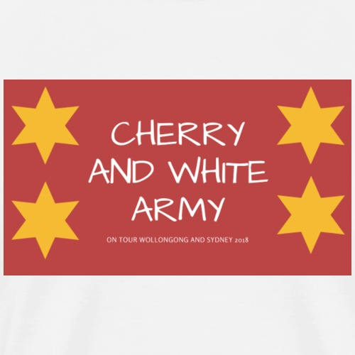 CHERRY AND WHITE ARMY NSW TOUR 2018 - Men's Premium T-Shirt