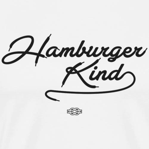 Hamburger Kind (schwarz) - Männer Premium T-Shirt