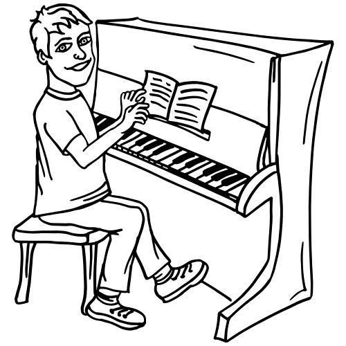 Victor - the piano player - Männer Premium T-Shirt