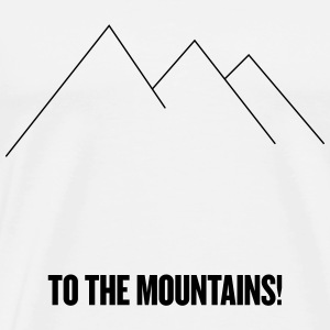 tothemountains_blck - Premium T-skjorte for menn