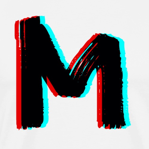 Modern Magazine 3D M Logo - Men's Premium T-Shirt