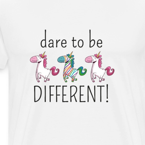 DARE TO BE DIFFERENT | The colorful zebra - Men's Premium T-Shirt