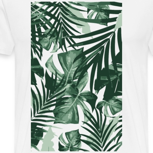 Tropical Leaves - Männer Premium T-Shirt