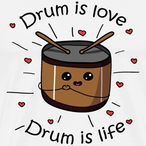 drum is love drum is life - Maglietta Premium da uomo