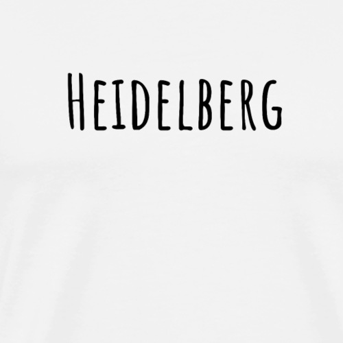 Heidelberg (Amatic SC/schwarz) - Männer Premium T-Shirt