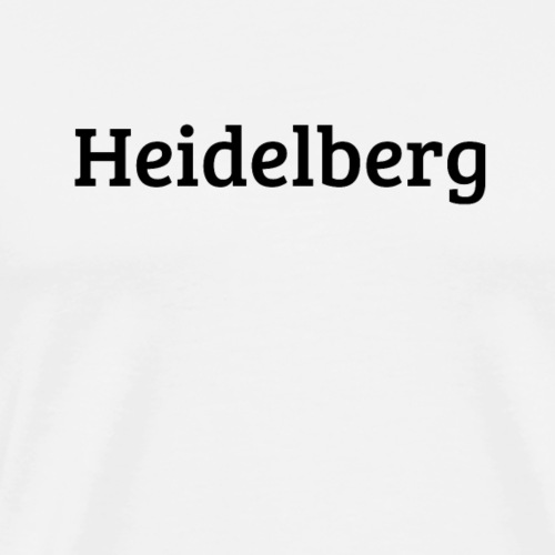 Heidelberg (Bree Serif/schwarz) - Männer Premium T-Shirt