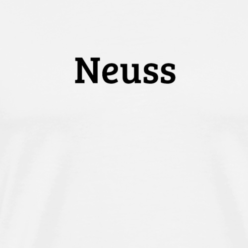 Neuss (Bree Serif/schwarz) - Männer Premium T-Shirt