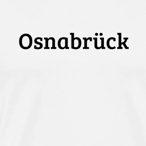 Osnabrueck (Bree Serif/schwarz) - Männer Premium T-Shirt