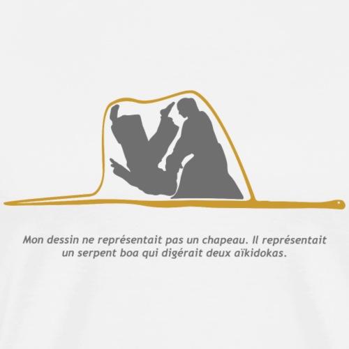 Aikido Boa fondo blanco - Camiseta premium hombre
