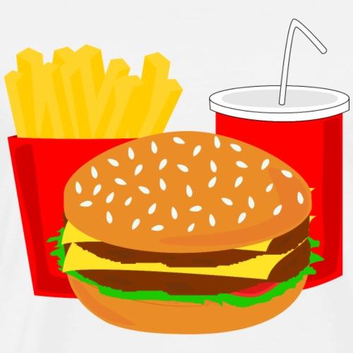 Burger Menü Fast Food Cola Geschenk Geschenkidee - Männer Premium T-Shirt
