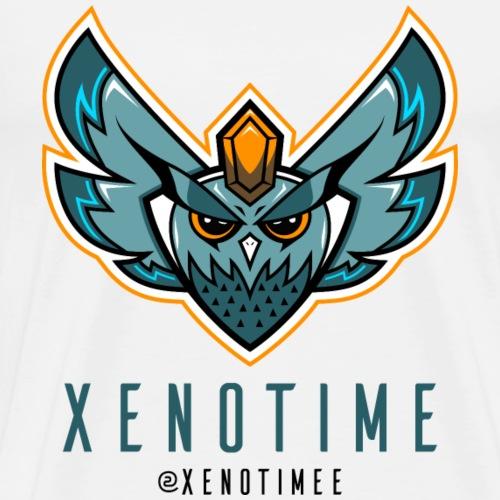 Logo + Texte + Tag + Bleu - T-shirt Premium Homme
