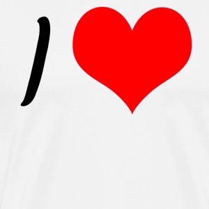 label design customization - i love xxx - Men's Premium T-Shirt