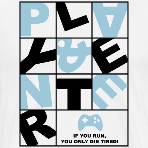 Play and Enter blue - Männer Premium T-Shirt