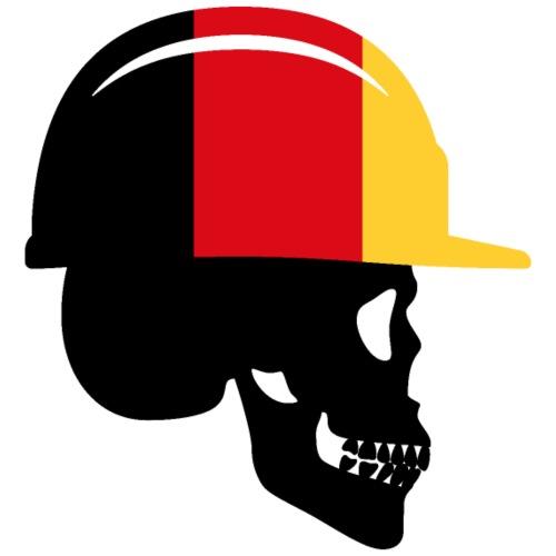 Deutschland Schädel mit Bauhelm