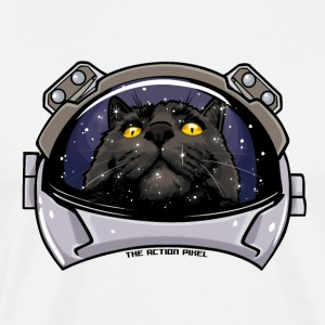 Kitty Cat Cosmos - Premium T-skjorte for menn