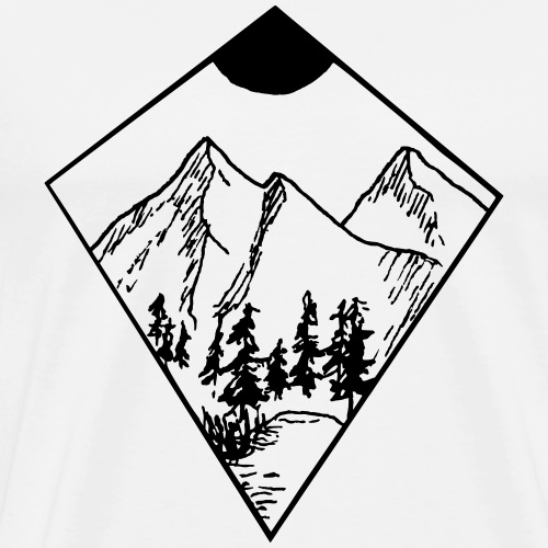 Mountain - Männer Premium T-Shirt
