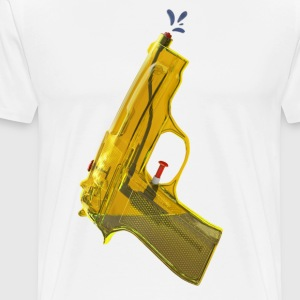 Yellow waterpistool - Mannen Premium T-shirt