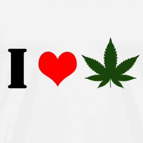 I Love Cannabis - Männer Premium T-Shirt