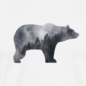 BEAR IN Smoky FOREST - Herre premium T-shirt