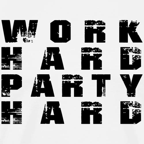 work hard party hard - Design 3 - Männer Premium T-Shirt