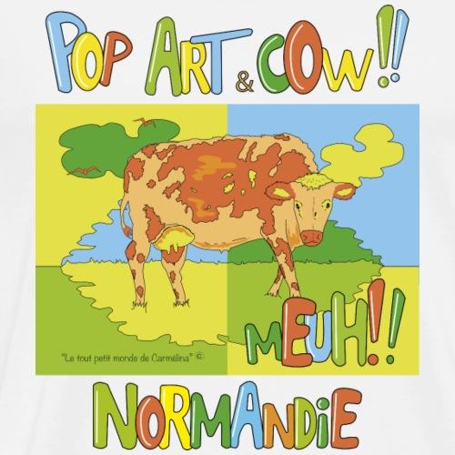 Vache Pop art Normandie - T-shirt Premium Homme