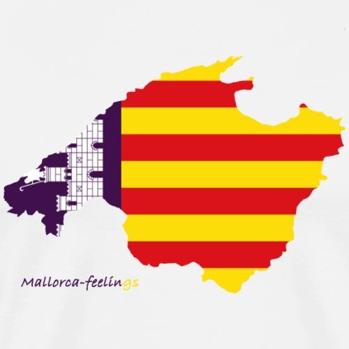 Mallorca-feelings flag of Mallorca - Männer Premium T-Shirt