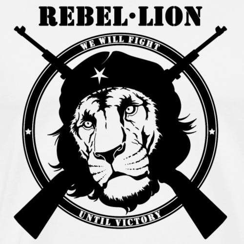Rebel Lion Fighting - T-shirt Premium Homme