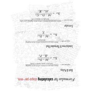 Formulas for calculating steps-per-mm (upturned). - Men's Premium T-Shirt