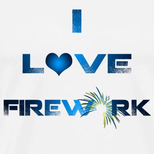I Love Firework - by NitroFireworksHD - Männer Premium T-Shirt