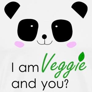 Panda Power - Veggie - Männer Premium T-Shirt