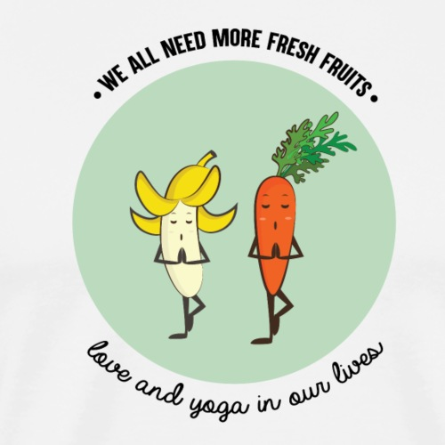 Love and yoga - Men's Premium T-Shirt
