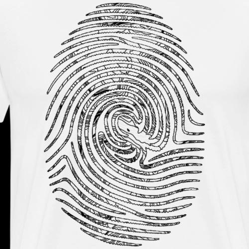 Tintenfisch Fingerabdruck schwarz - Männer Premium T-Shirt