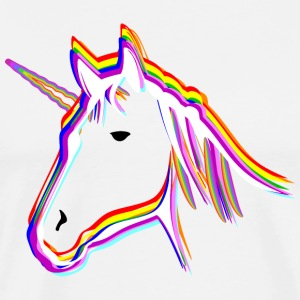 Unicorn Rainbow - Premium T-skjorte for menn