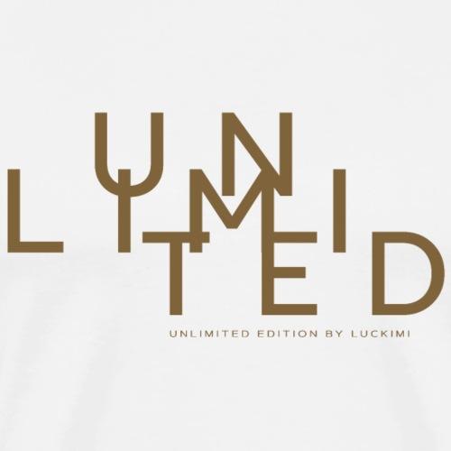 Unlimited gold - Premium-T-shirt herr