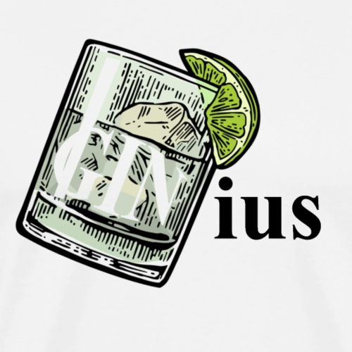 GINius lettering word joke (Gin&Tonic) - Männer Premium T-Shirt