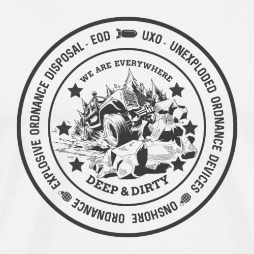 EOD & UXO OFFROAD JEEP - SUV Geschenk Shirt Motiv - Männer Premium T-Shirt