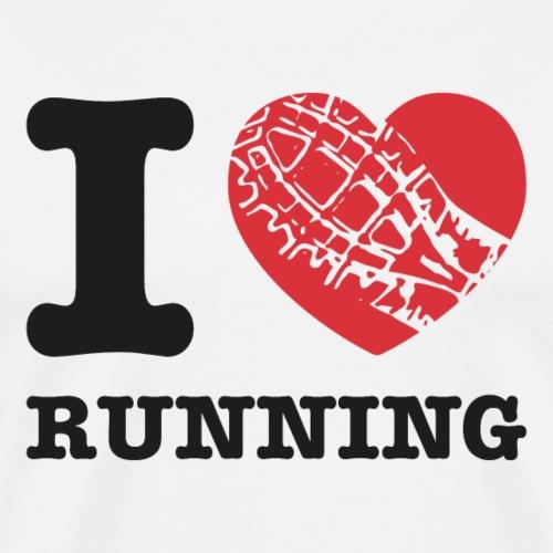 amo correre - Maglietta Premium da uomo