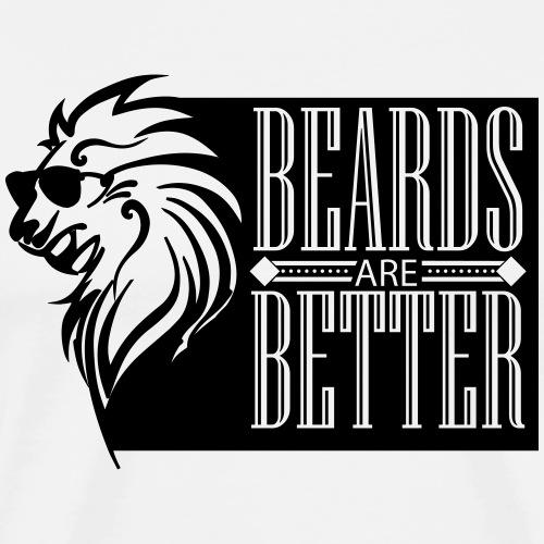 Baarden zijn Betere - Mannen Premium T-shirt