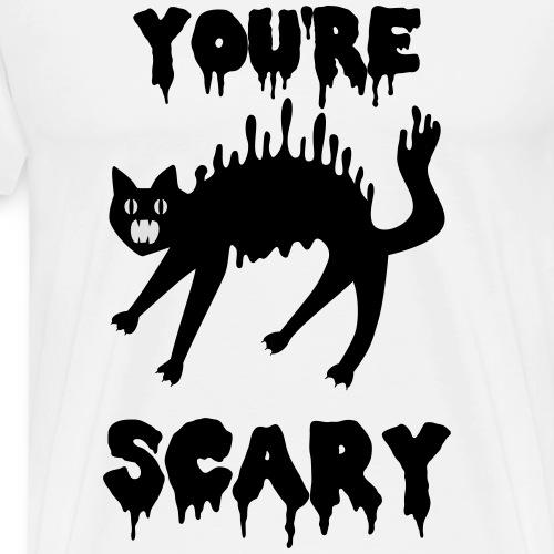 Scared Cat - Männer Premium T-Shirt