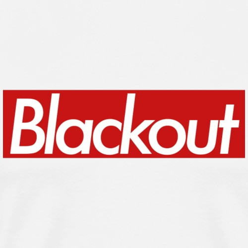 Blackout Red - Premium-T-shirt herr