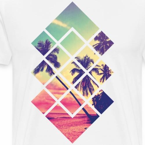 Landscape Geometrie Strand - Männer Premium T-Shirt
